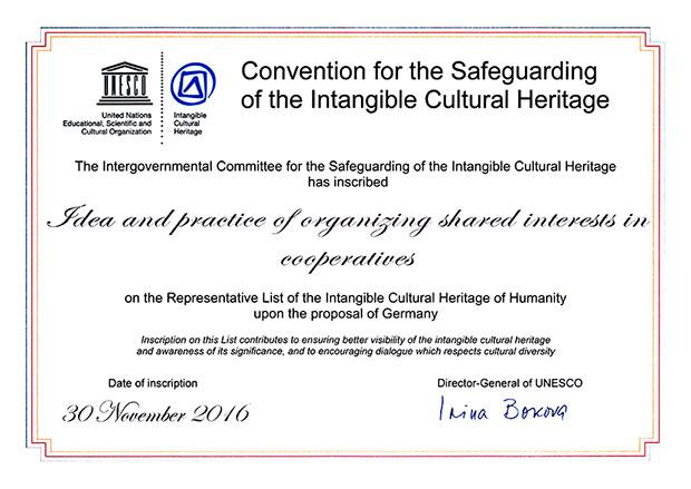 Genossenschaftsidee zum UNESCO-Kulturerbe erklärt