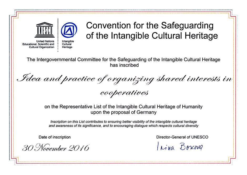 UNESCO-Urkunde